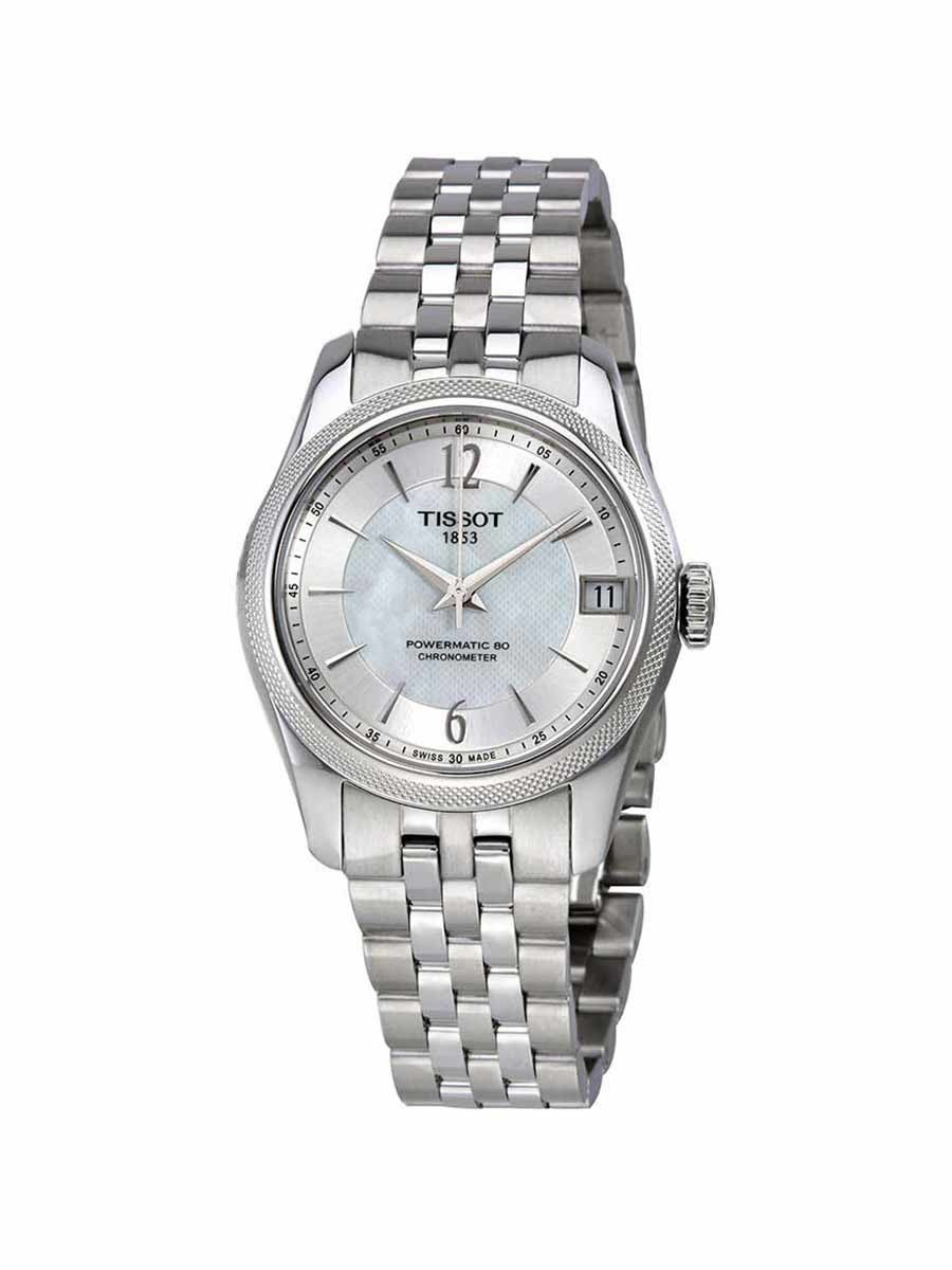 Ballade Powermatic 80 COSC Lady watch white mother of pearl dial with bracelet