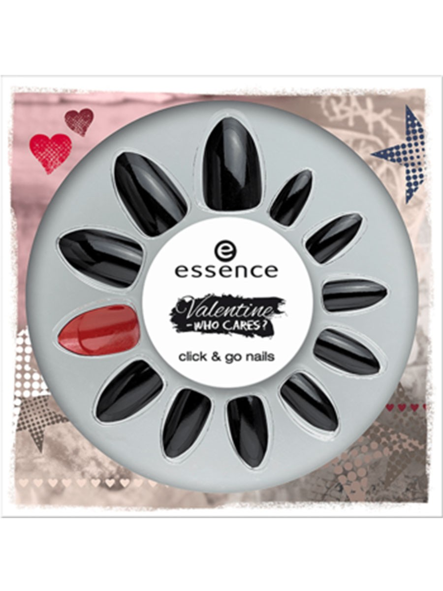 ESSENCE VALENTINE WHO CARES CLICK & GO NAILS 01