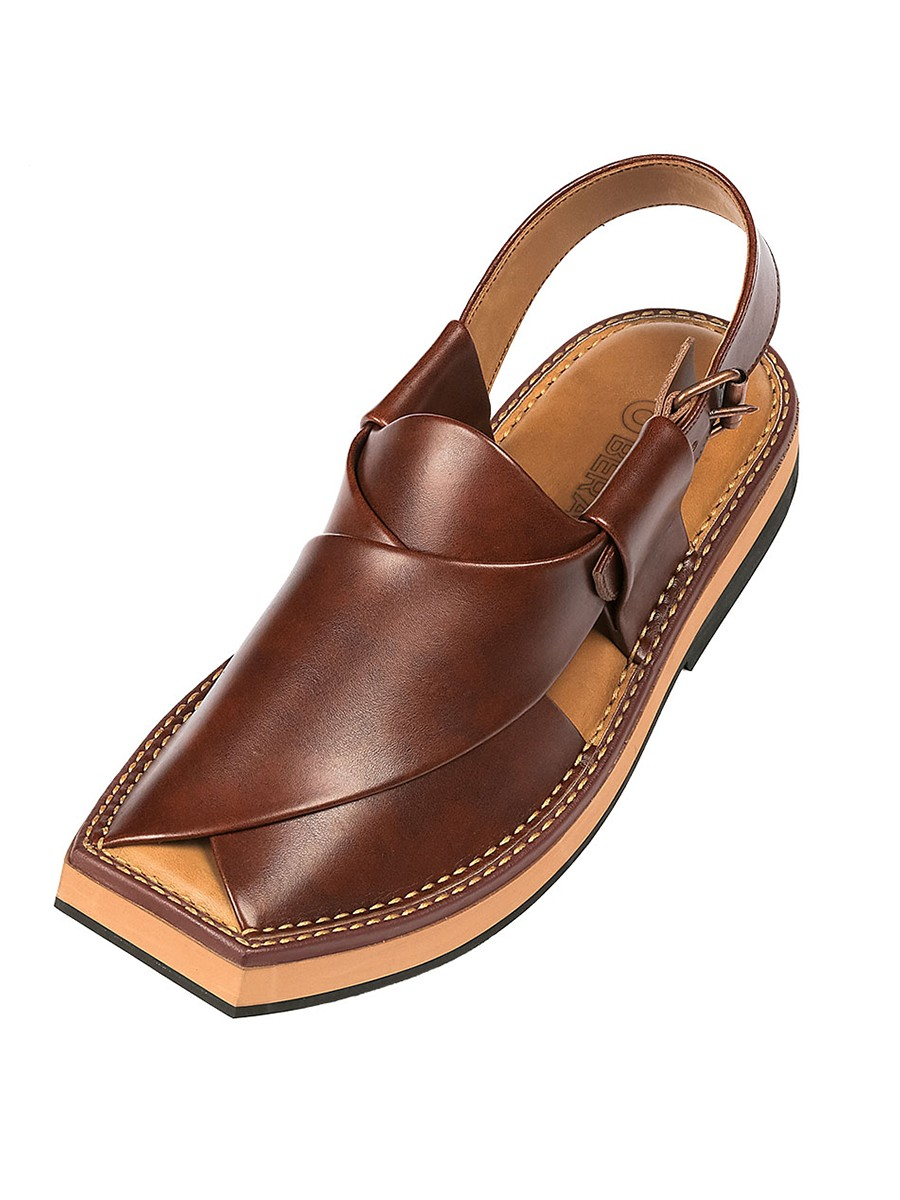 Burgundy Kaptaan Chappal for Men