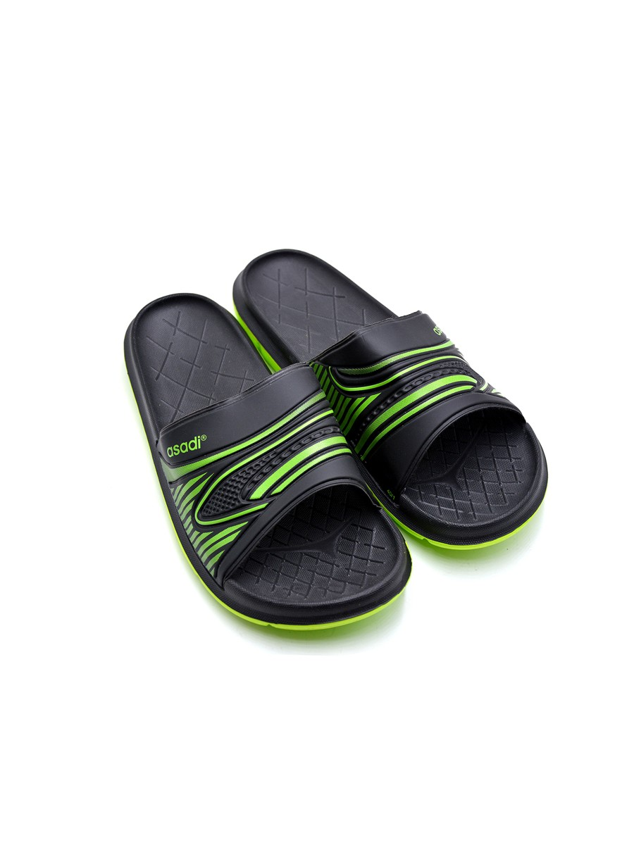 BLACK-GREEN MEN SLIDES