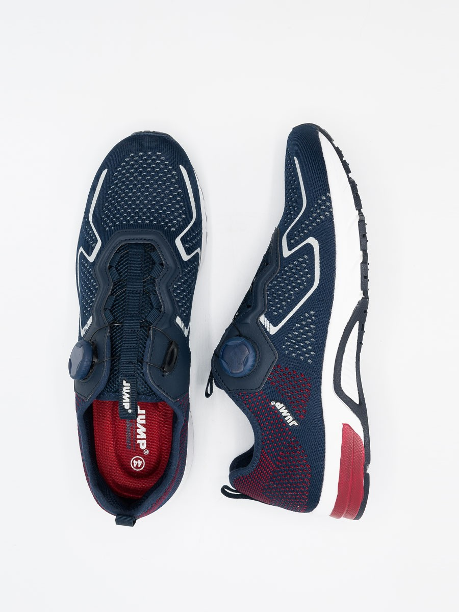 MEN'S RUNNING SHOE WITH SELF-TYING LACES