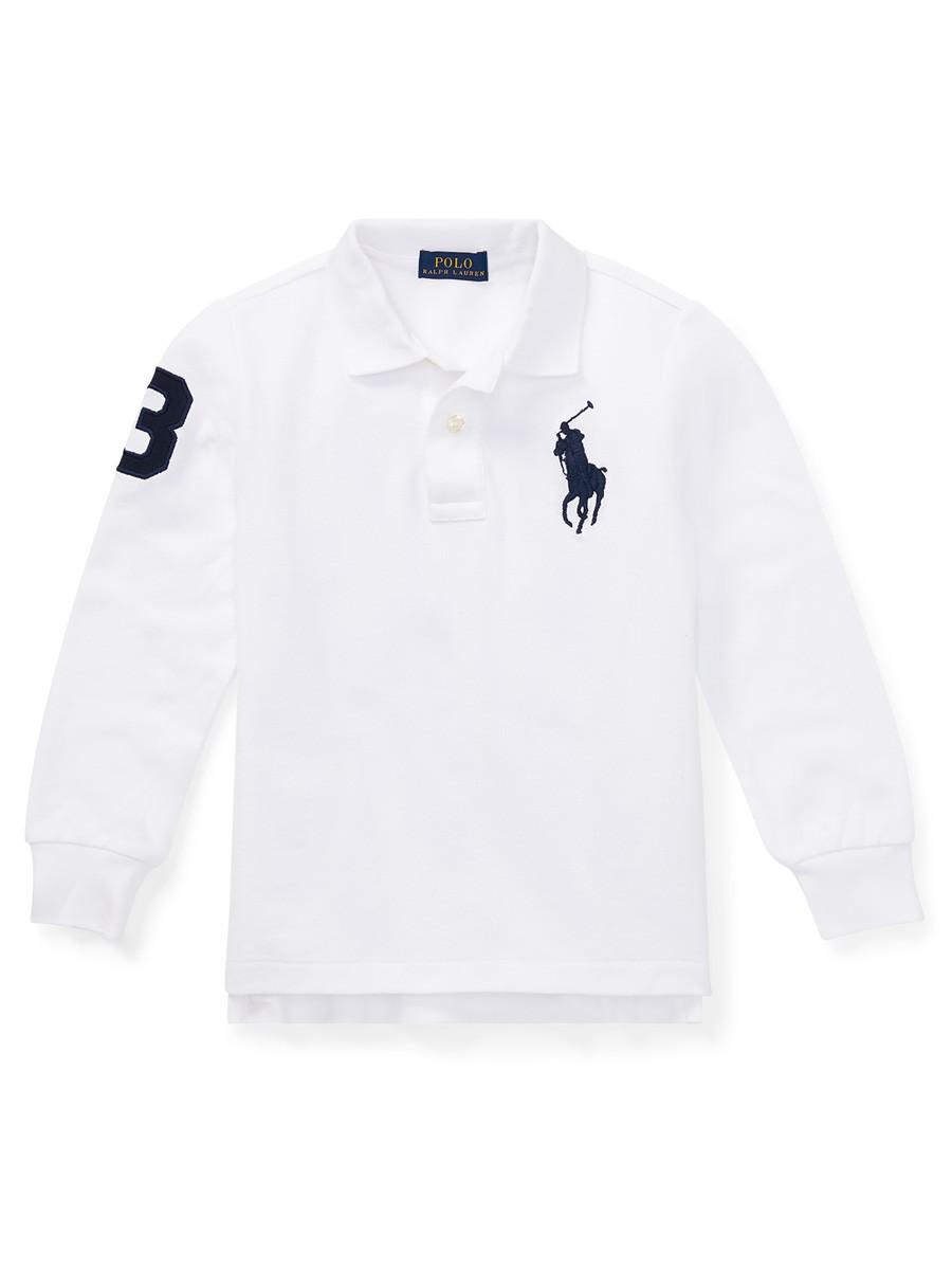 Cotton Mesh Polo Shirt - White