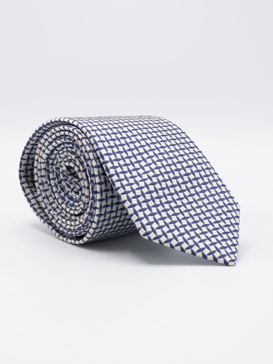 Hexagon Print Microfiber Polyester  Tie