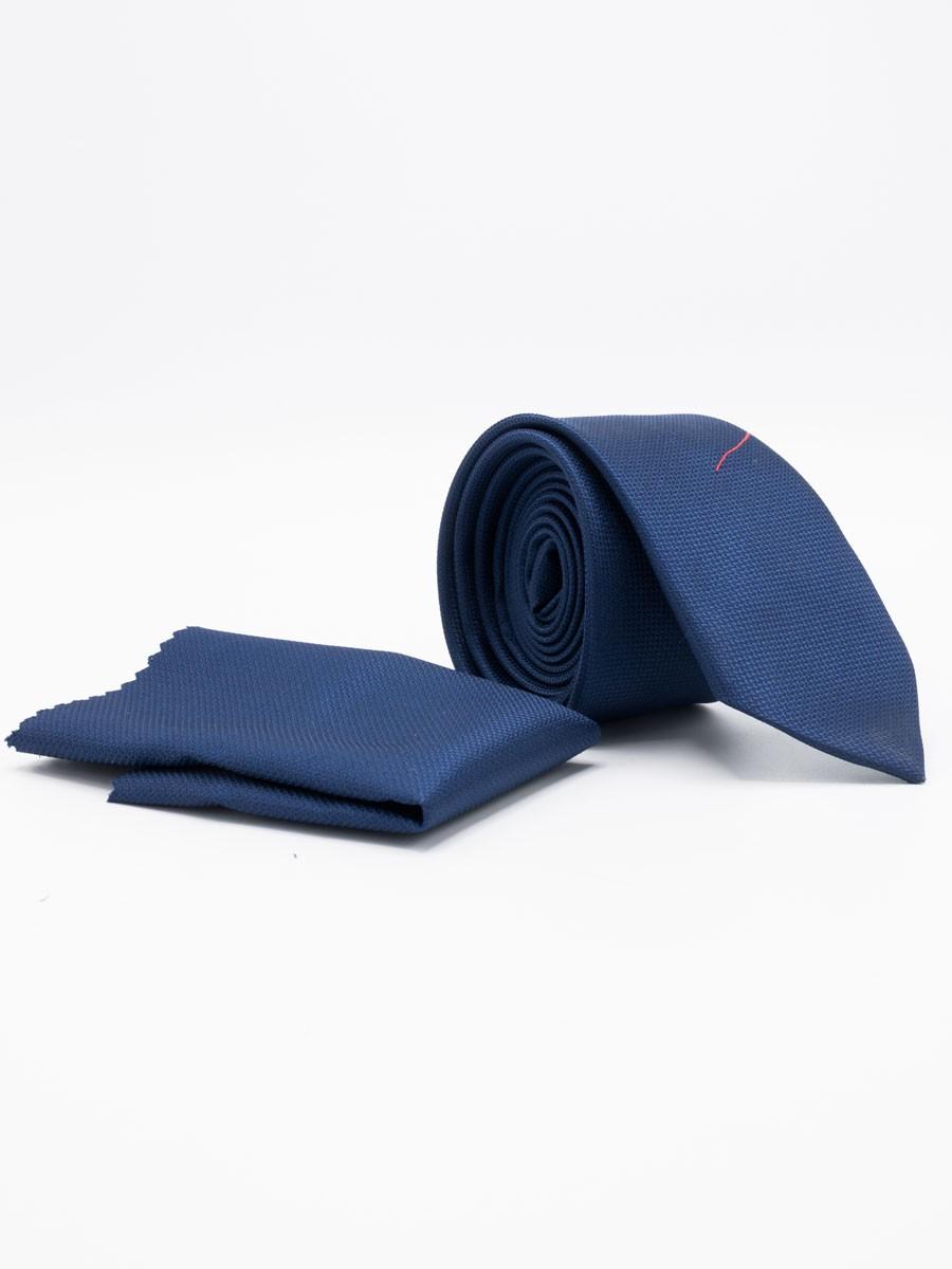 Blue Plain Microfibre Polyester Tie