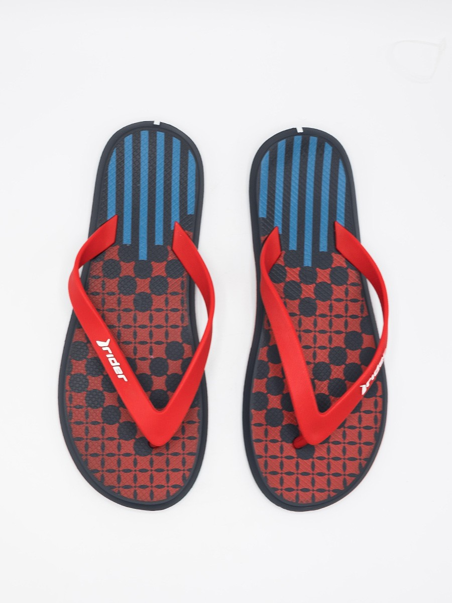 MEN RED-BLACK & BLUE FLIP-FLOPS