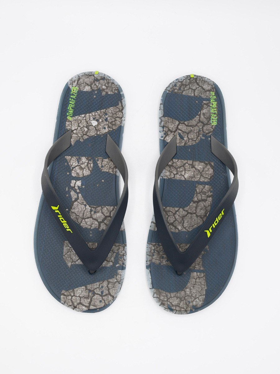 MEN BLUE & GREY FLIP-FLOPS