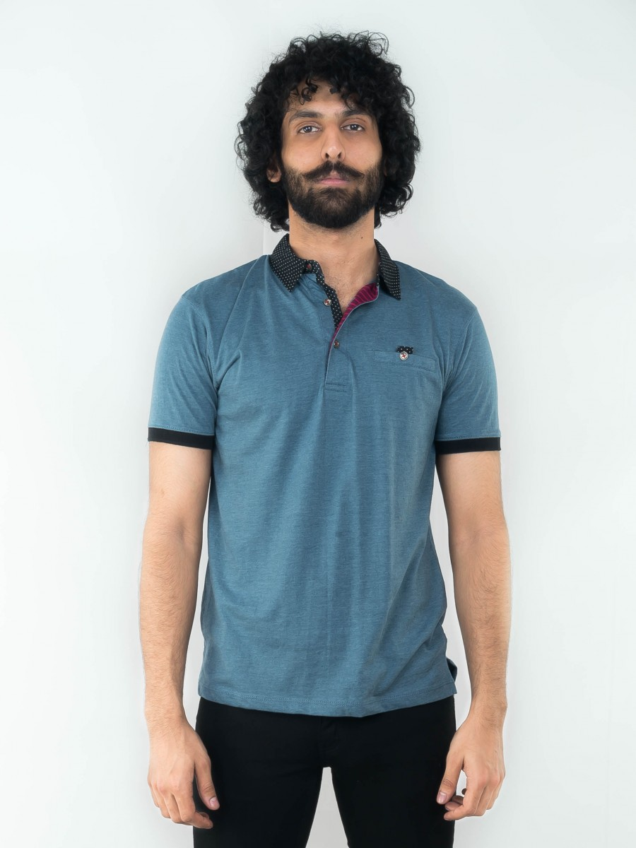 COLLAR JERSEY POLO SHIRT