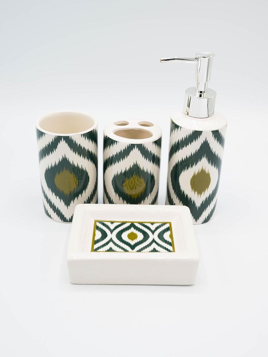 Bathroom Set Multicolor Design 4Pcs Set