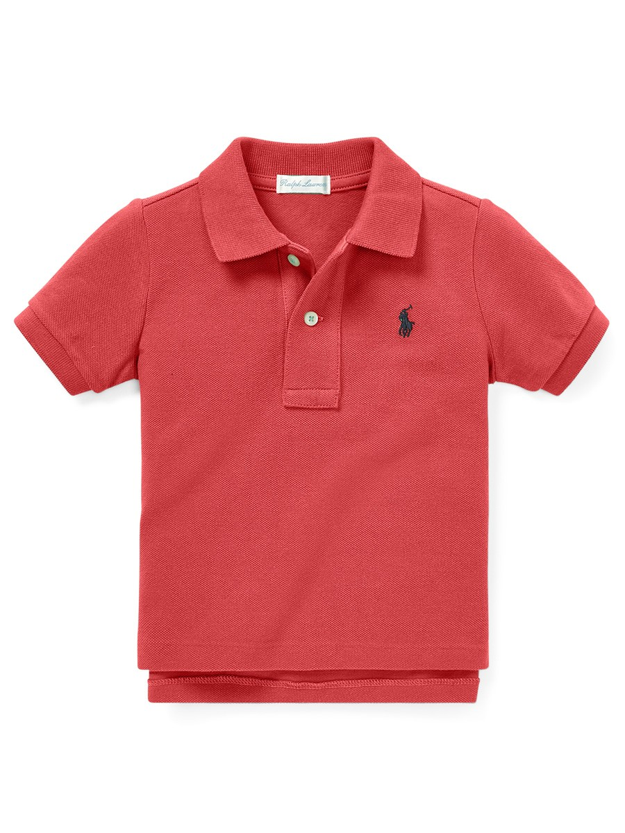 Cotton Mesh Polo Shirt - NANTUCKET RED