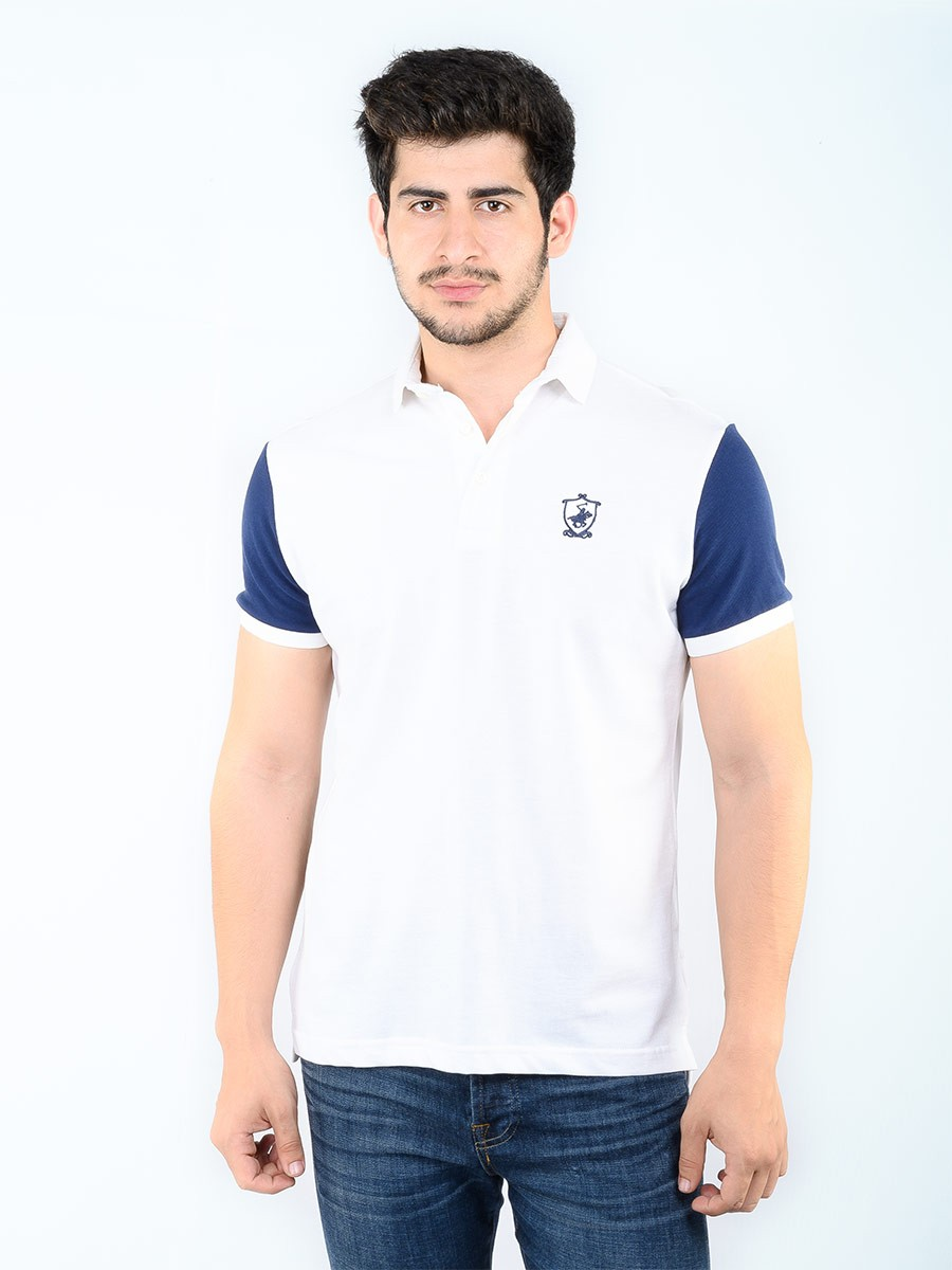 KC POLO HORSE SHIELD NAVY WHITE