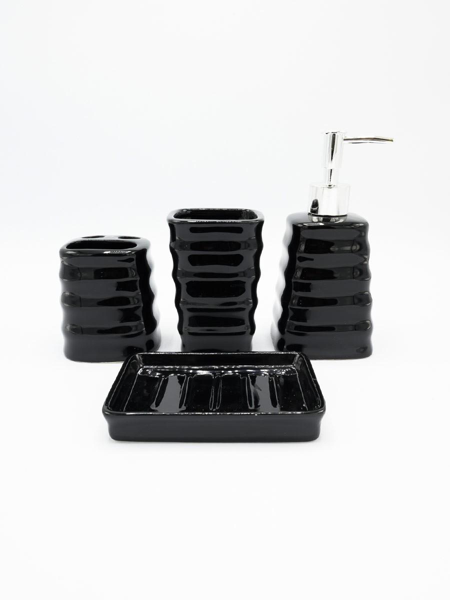 Bathroom Set Black Color 4Pcs Set