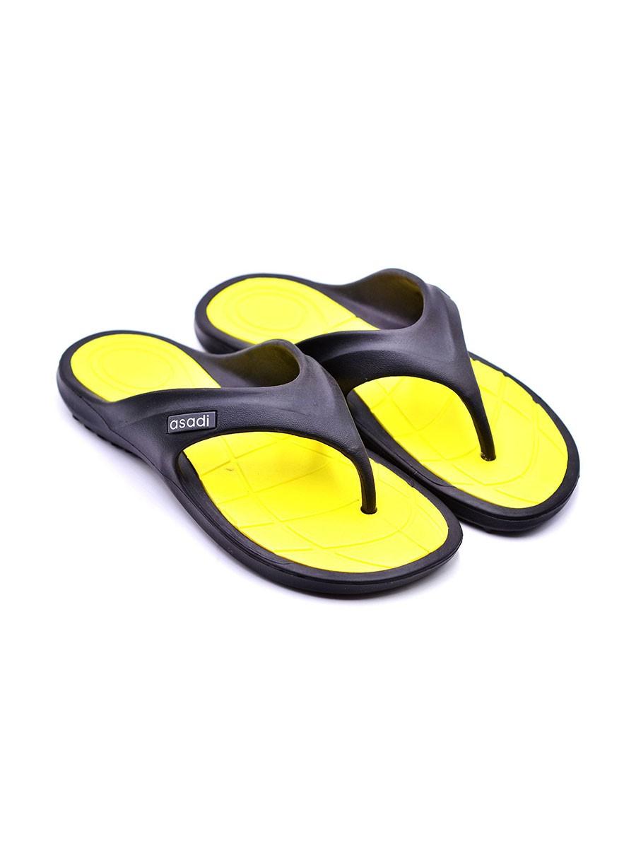 Black Light Yellow Ladies Slipper