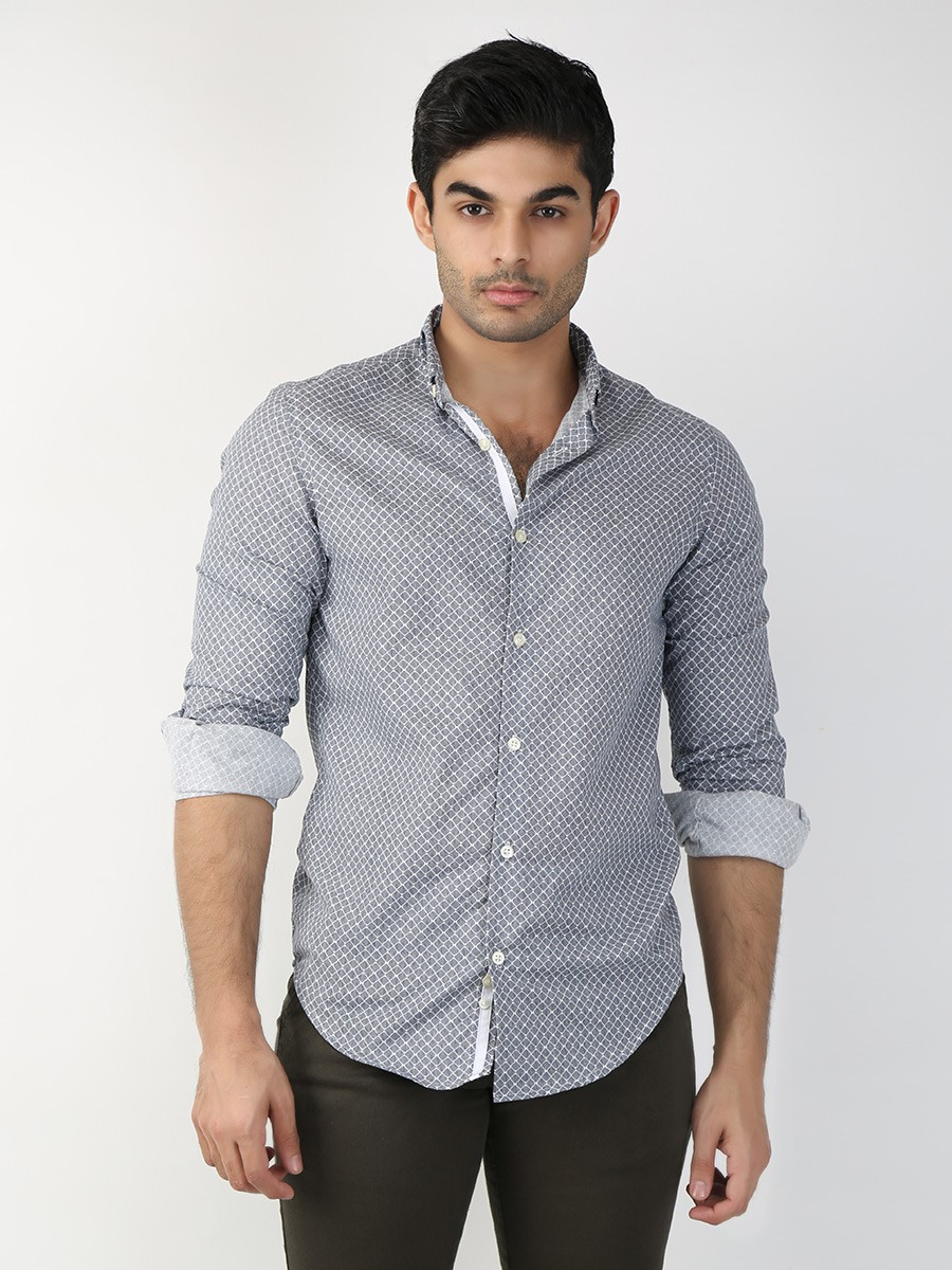 Multicolored Printed Slim Fit  Casual Shirt