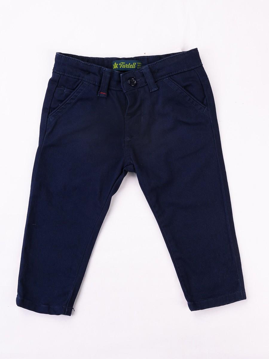 Dark Blue Equal Washed Slim Fit Chinos