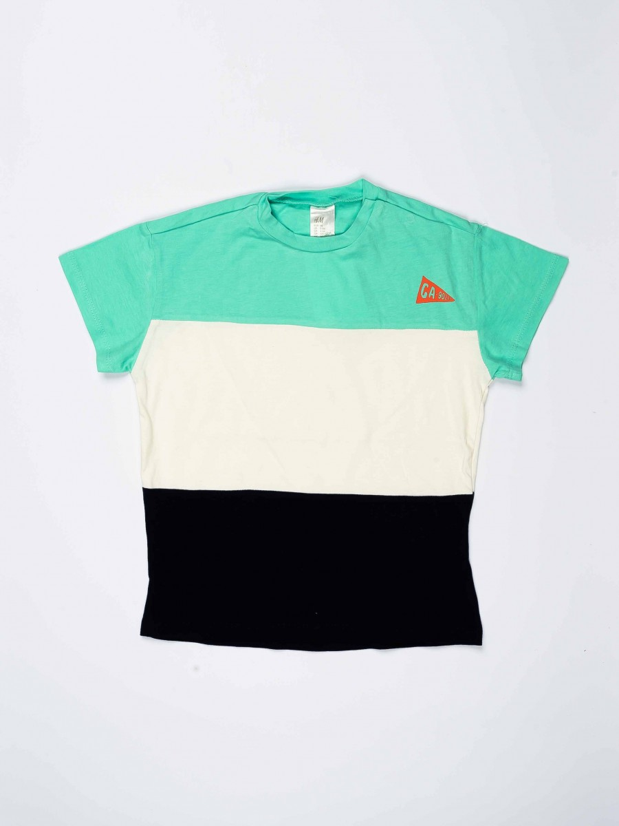 Multi Colored Round Neck Baby Boy T-Shirt