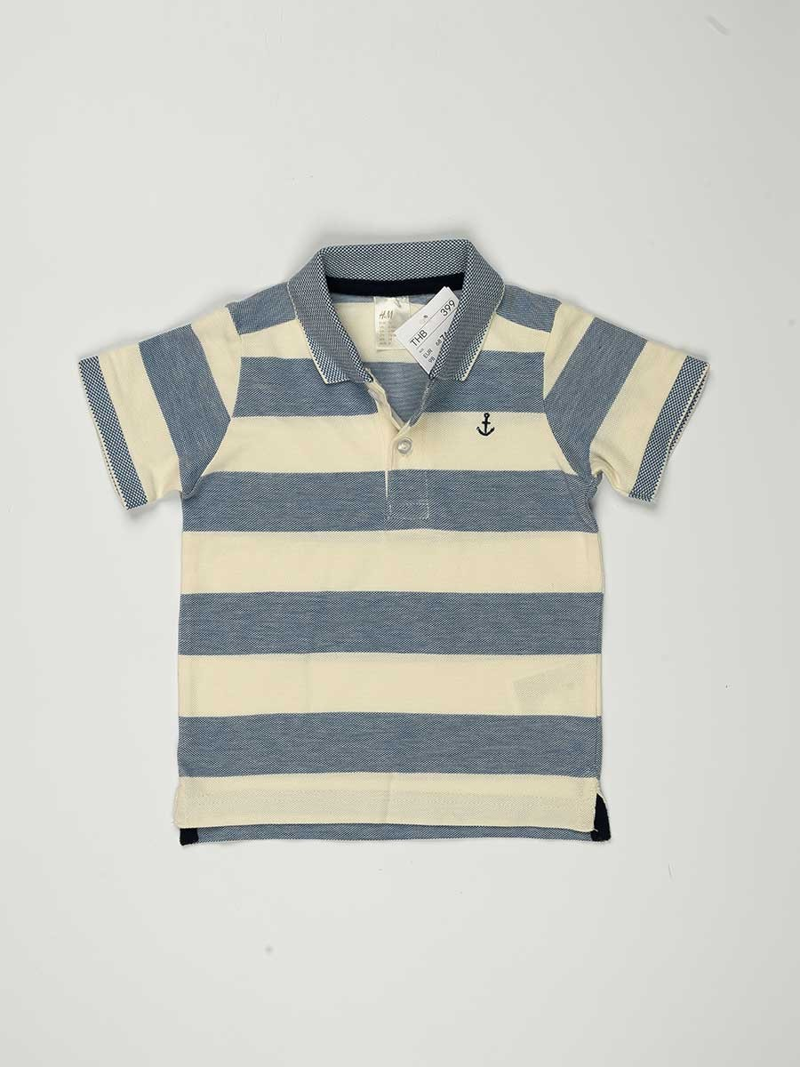 Multi Colored Striped Baby Boy T-Shirt