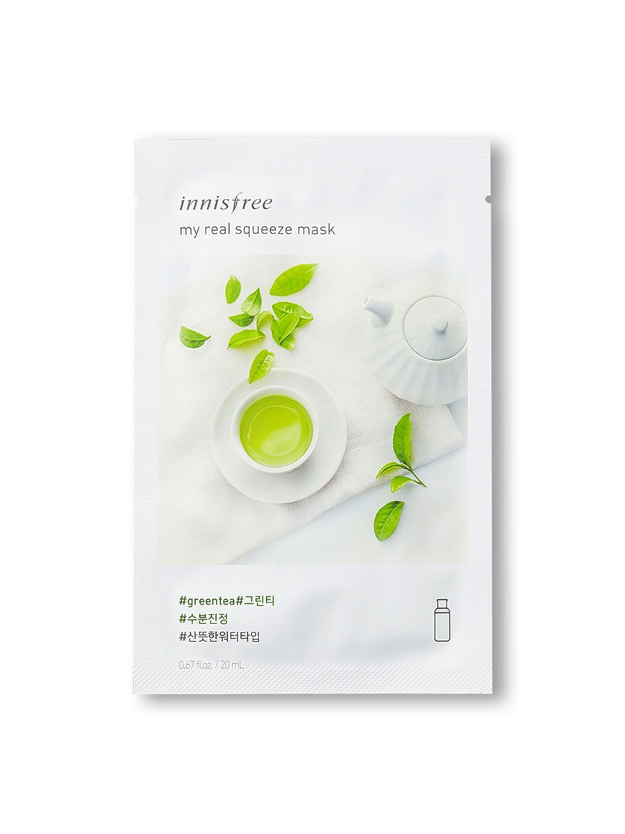Innisfree My Real Squeeze Mask  Shade:Green Tea