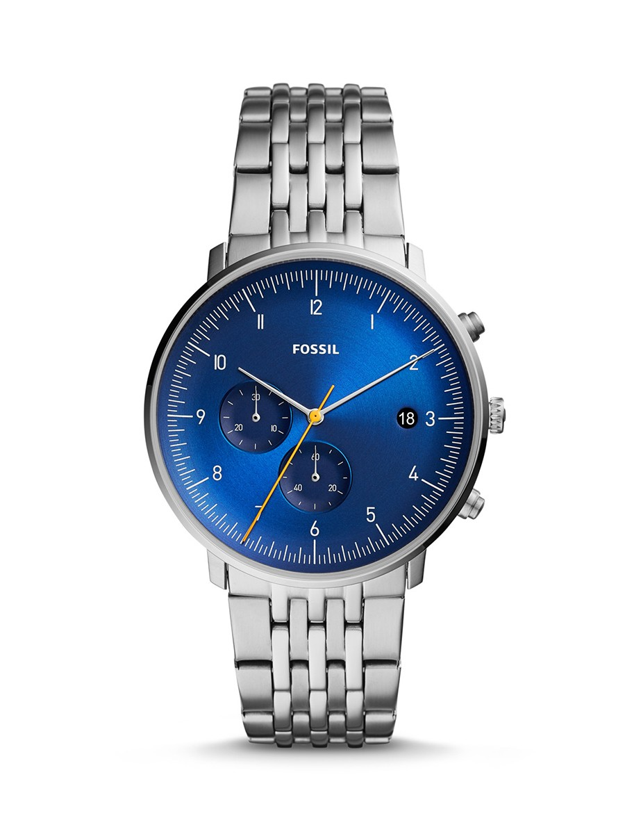 FOSSIL CHASE TIMER CHRONOGRAPH STAINLESS STEEL MEN WATCH