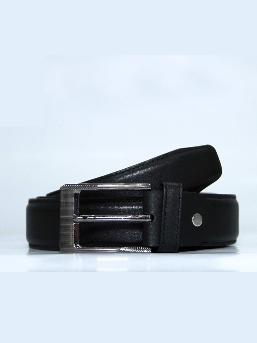 Genuine Leather Formal Belt- Black