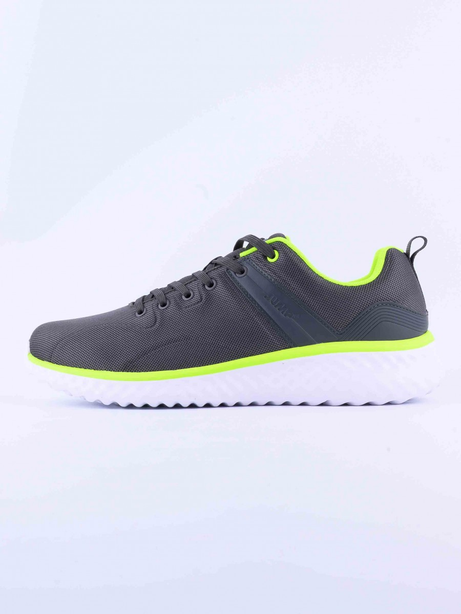 MEN'S TRAINING SHOE DK-GREY-LIME