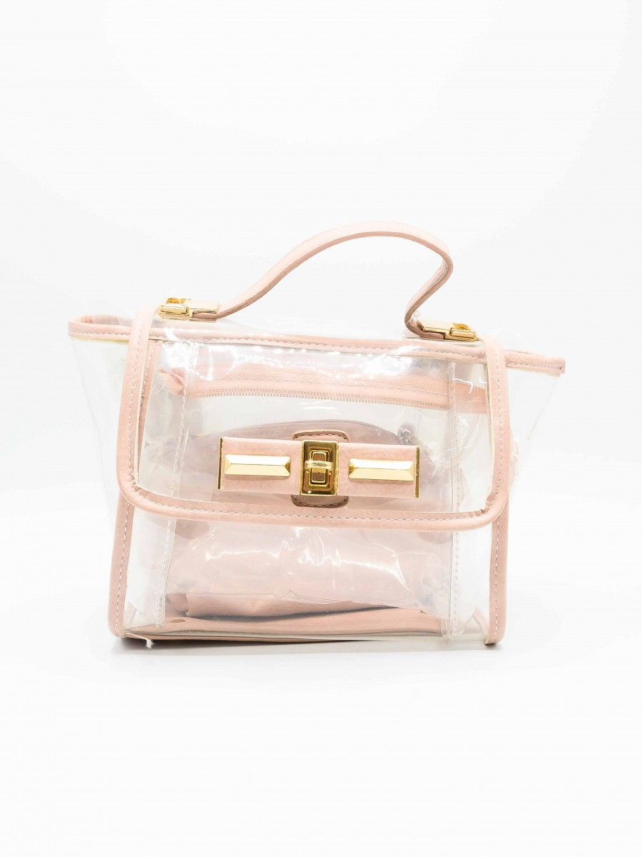 Pink Transparent Hand Bag