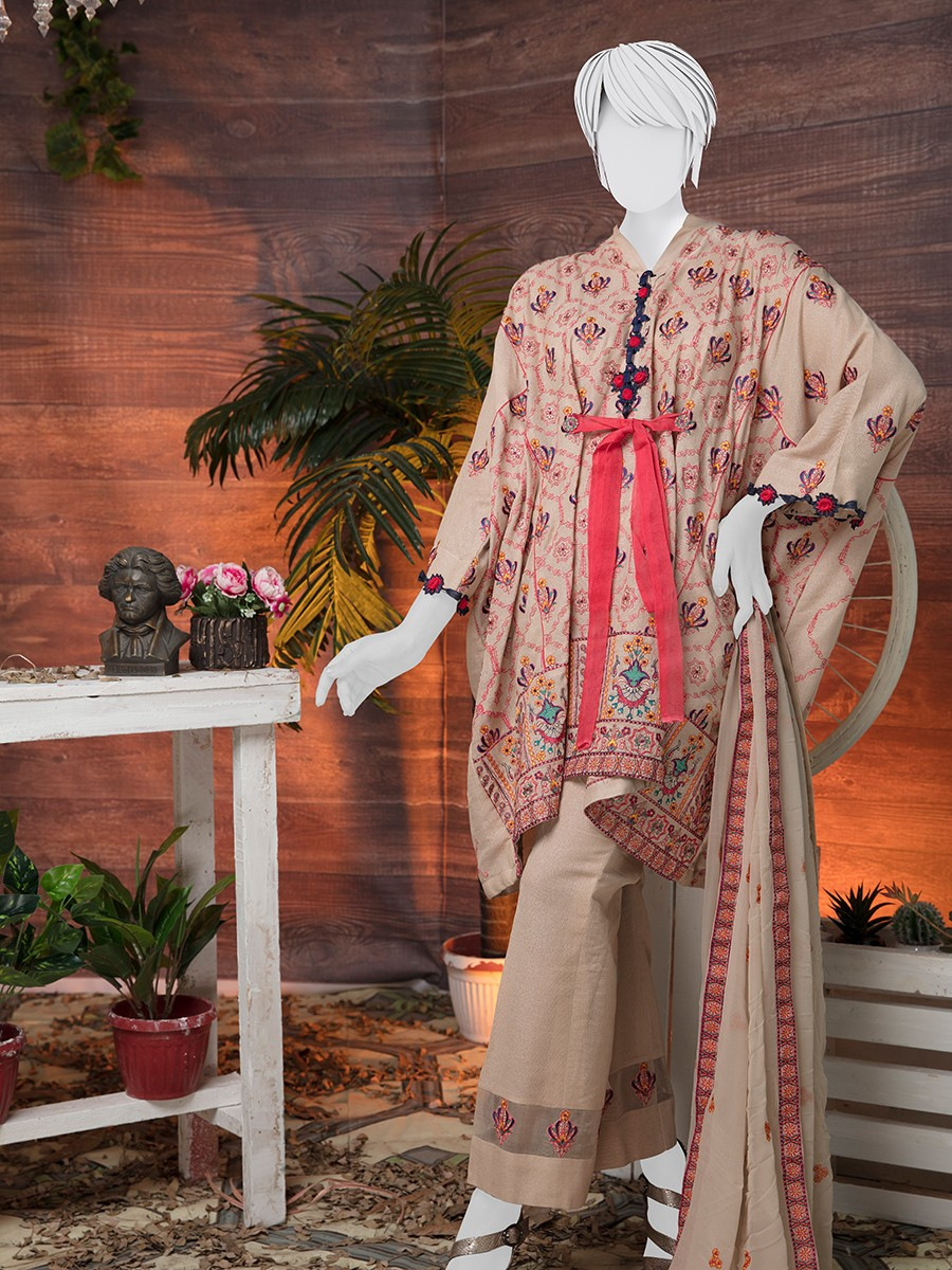 Multi colored Embroidered 3 Piece Suit