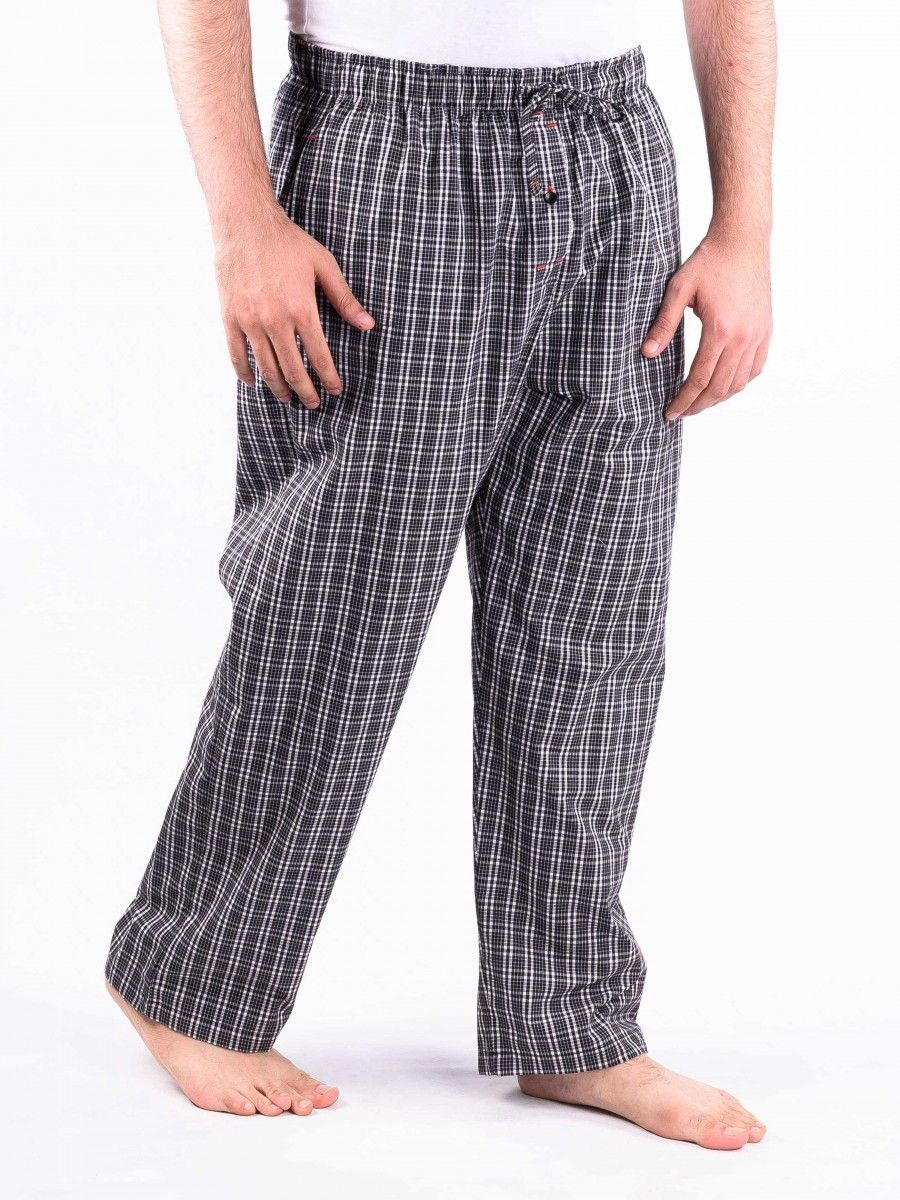 Black and White Check Cotton Baggy Pajamas