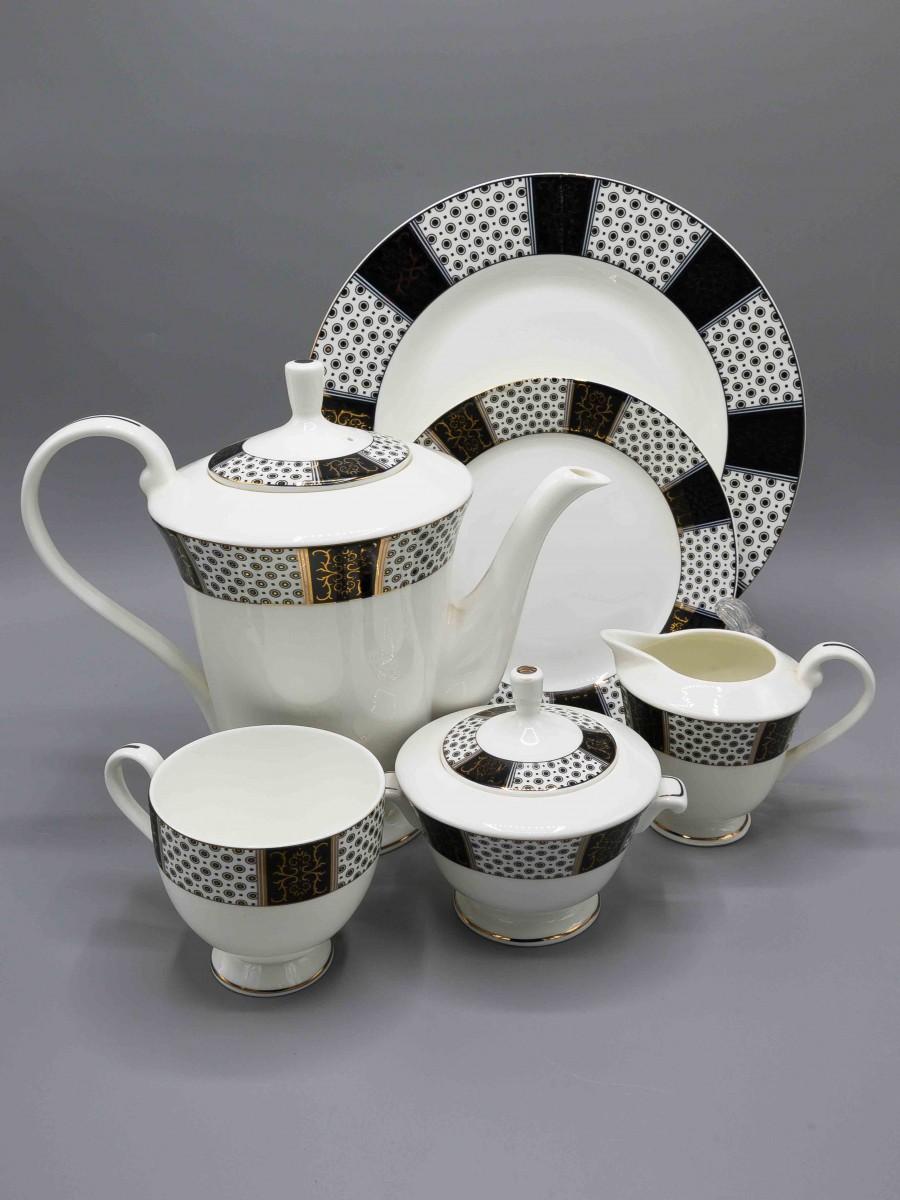 24 Pcs Two Tone Design Tea Set