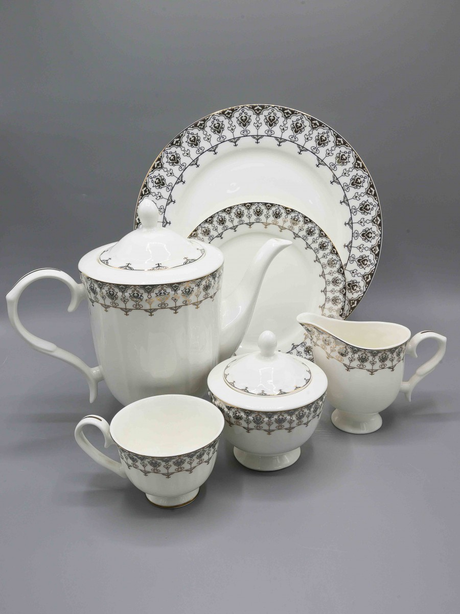24 Pcs White House Tea Set