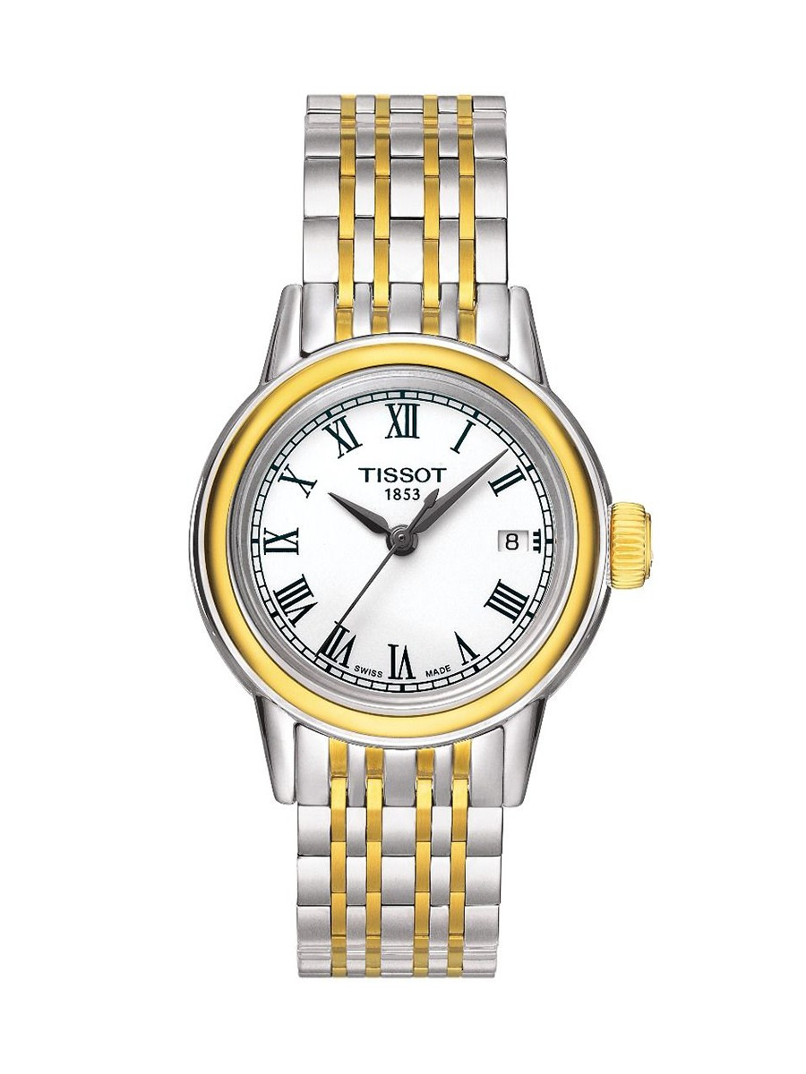 Carson Quartz White Dial Yellow Gold/Grey Bracelet Women's Watch