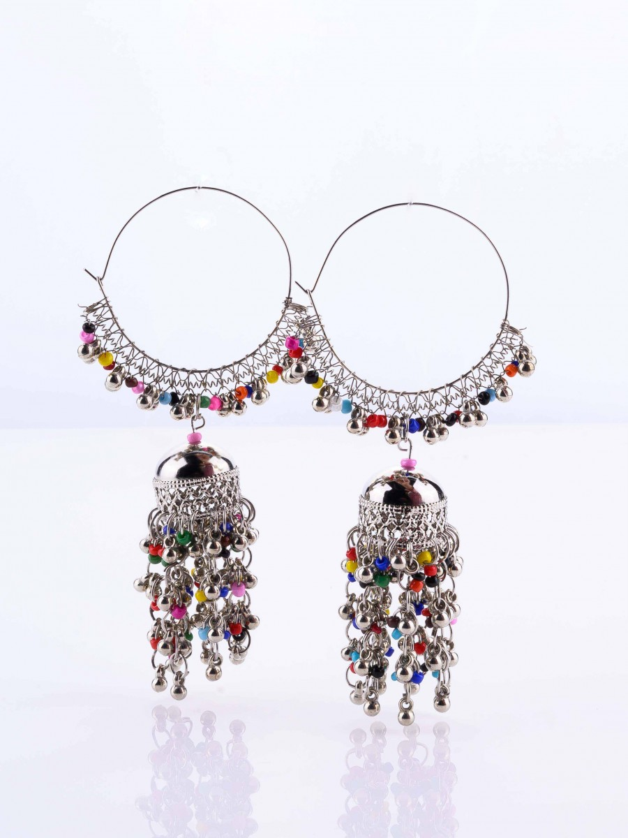 Multi Pearl Hoop Earrings