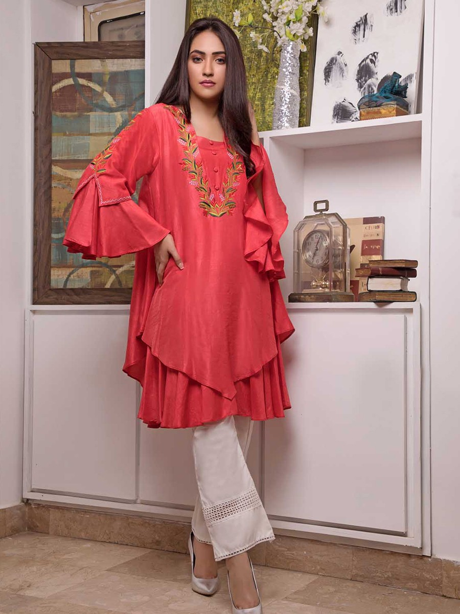 Agate Embroidered 1 Pc Stitched Kurti
