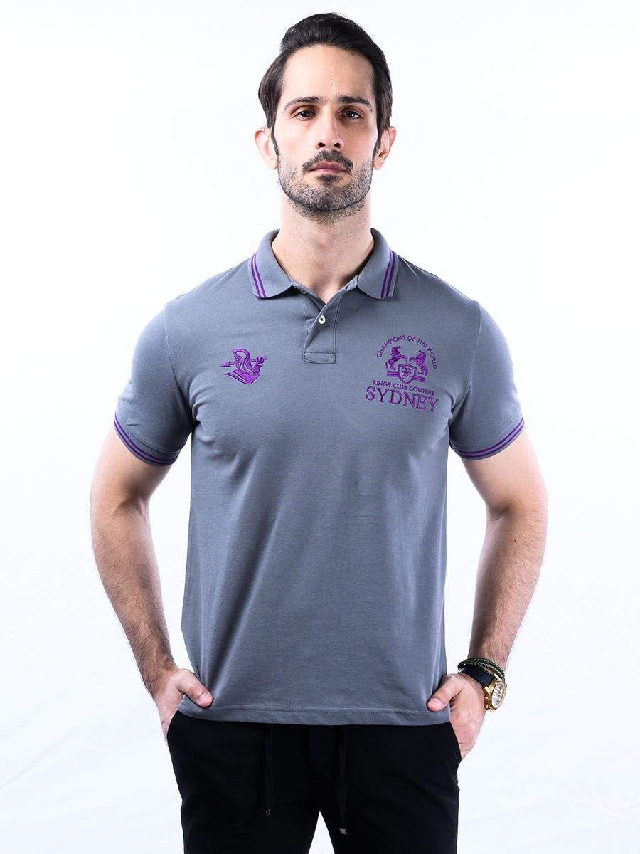 Nabeel & Aqeel Spartan Champions Of The World Polo Shirt Grey