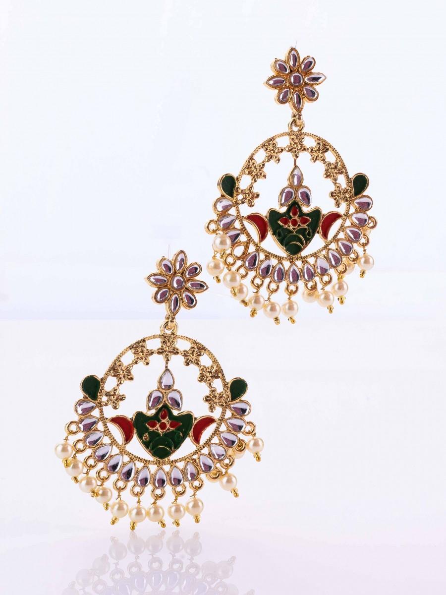 Meenawork Polki Earrings