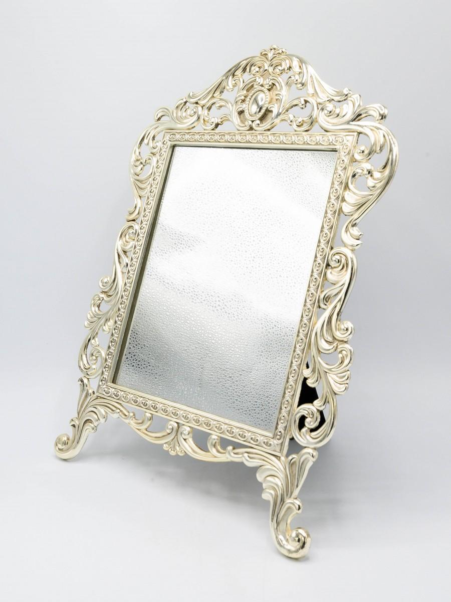 Silver Mirror Metal Frame