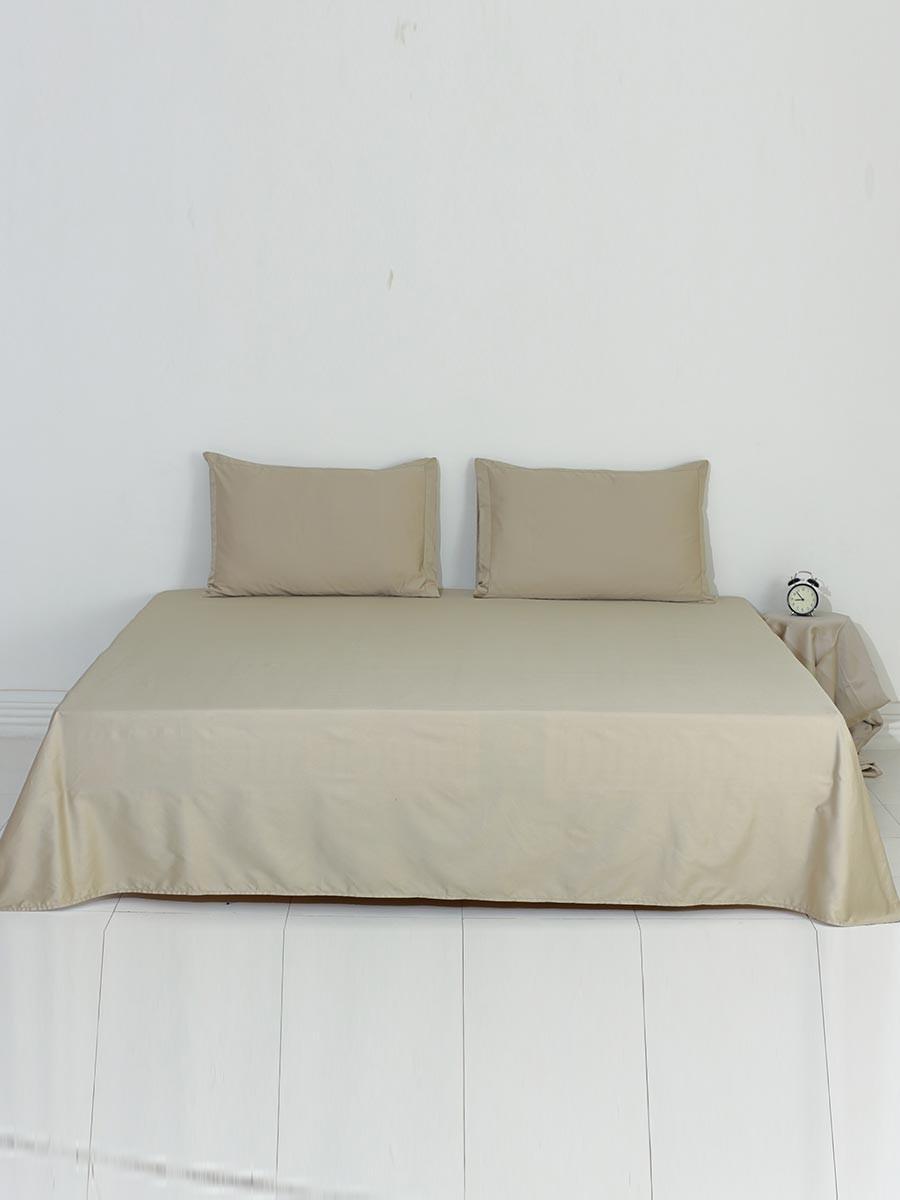 Olive Plain Bed Sheet