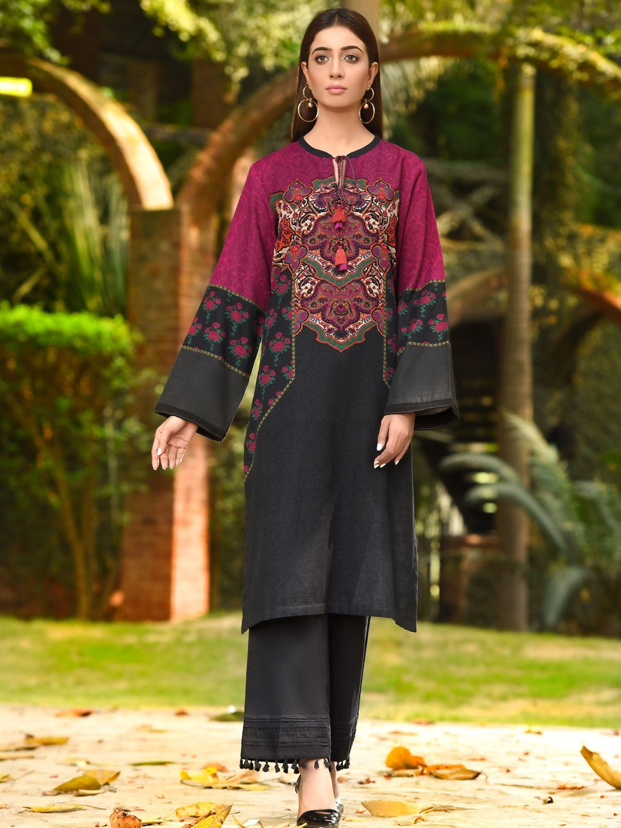 Black Slub Khaddar Shirt