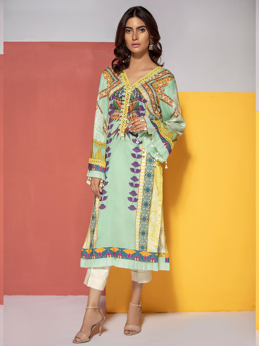 Multi Colored Digital Printed  Linen Shirt