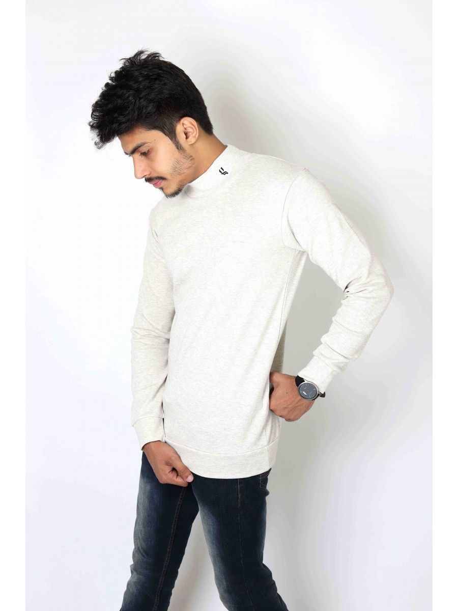 Oatmeal Mock Neck