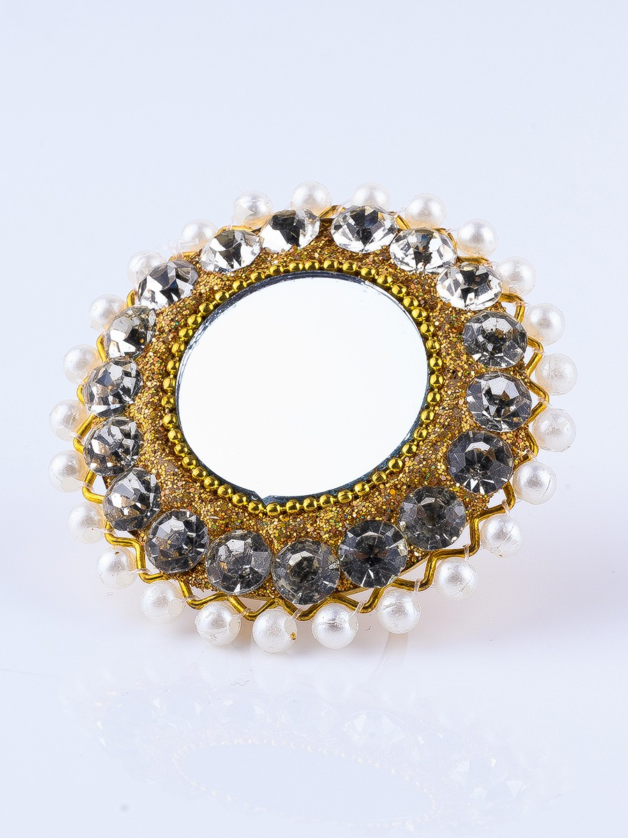 Gold Plated Mirror Ring