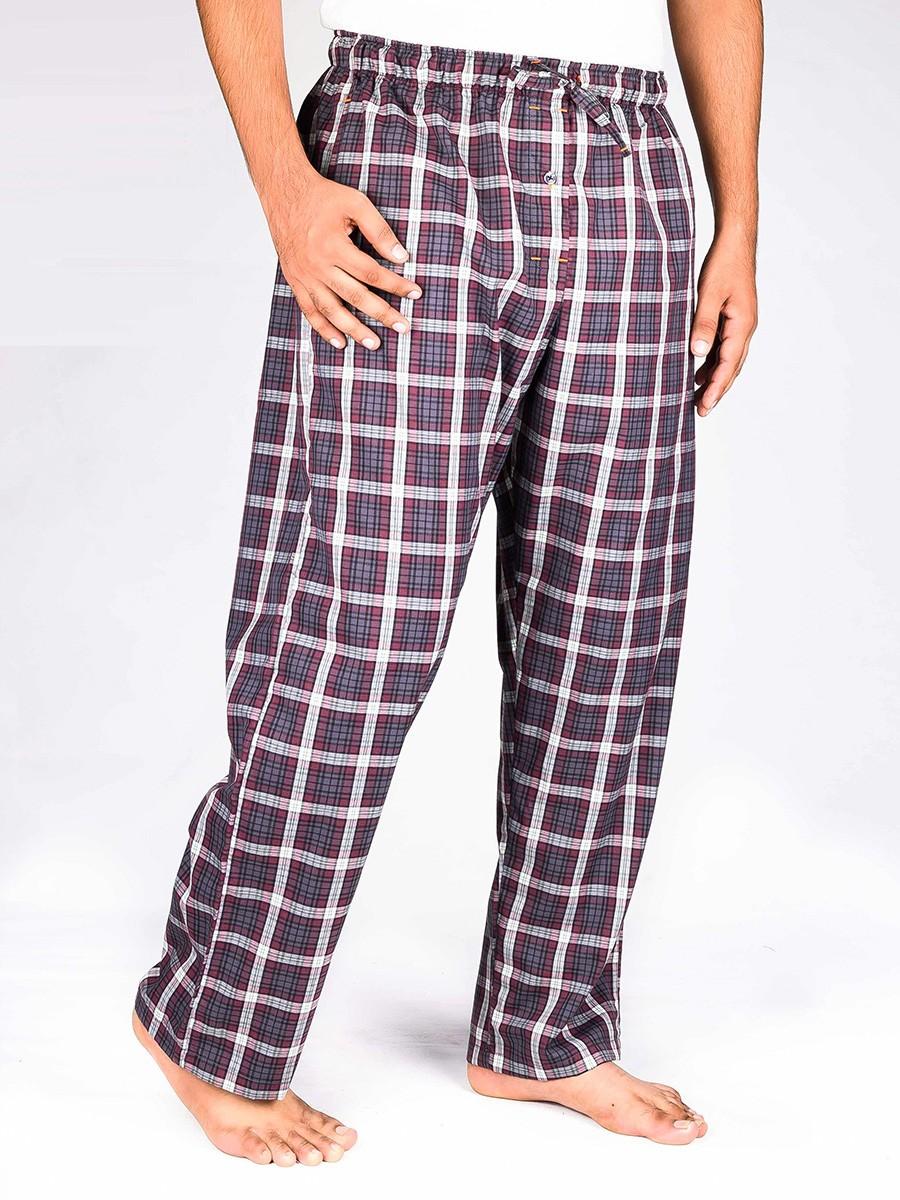 Multi Colored Check Cotton Baggy Pajamas