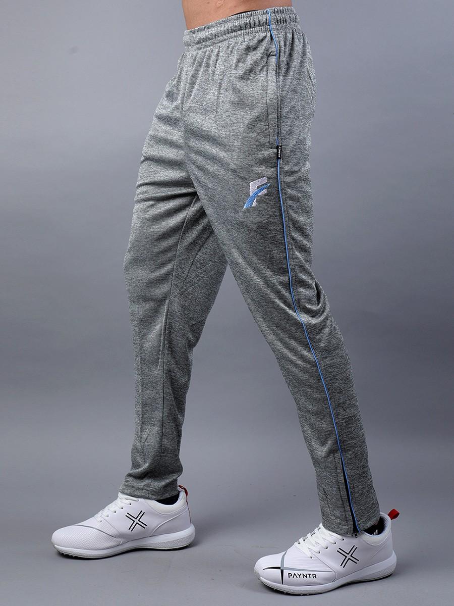 Grey & Sky Blue Active wear Trouser