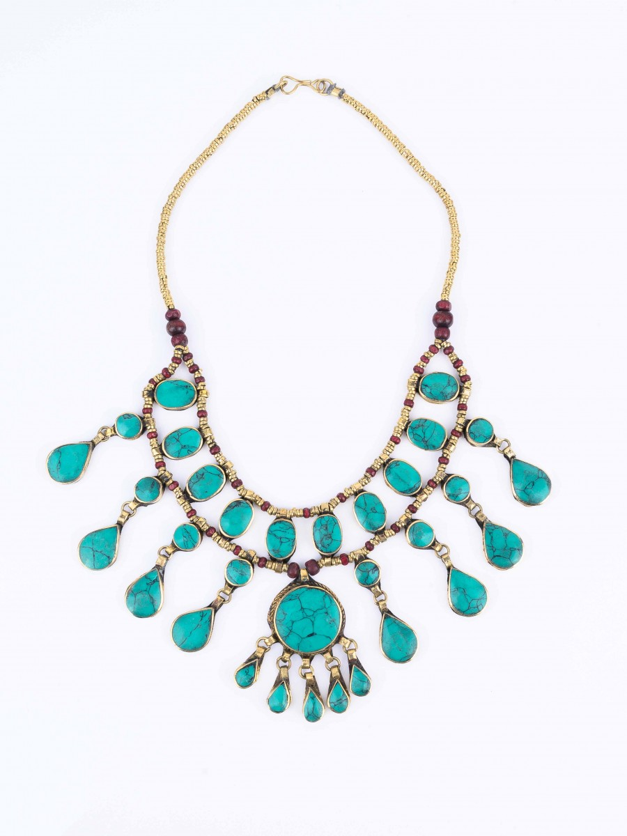 Mint Blue Three Layered Necklace