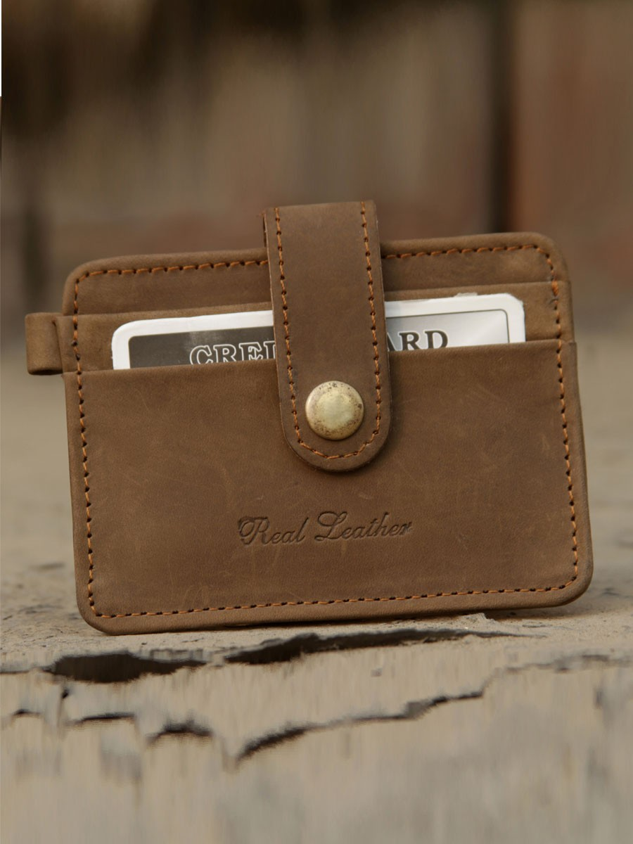 Pull up Vintage  Slim Fit Cash Card Holder