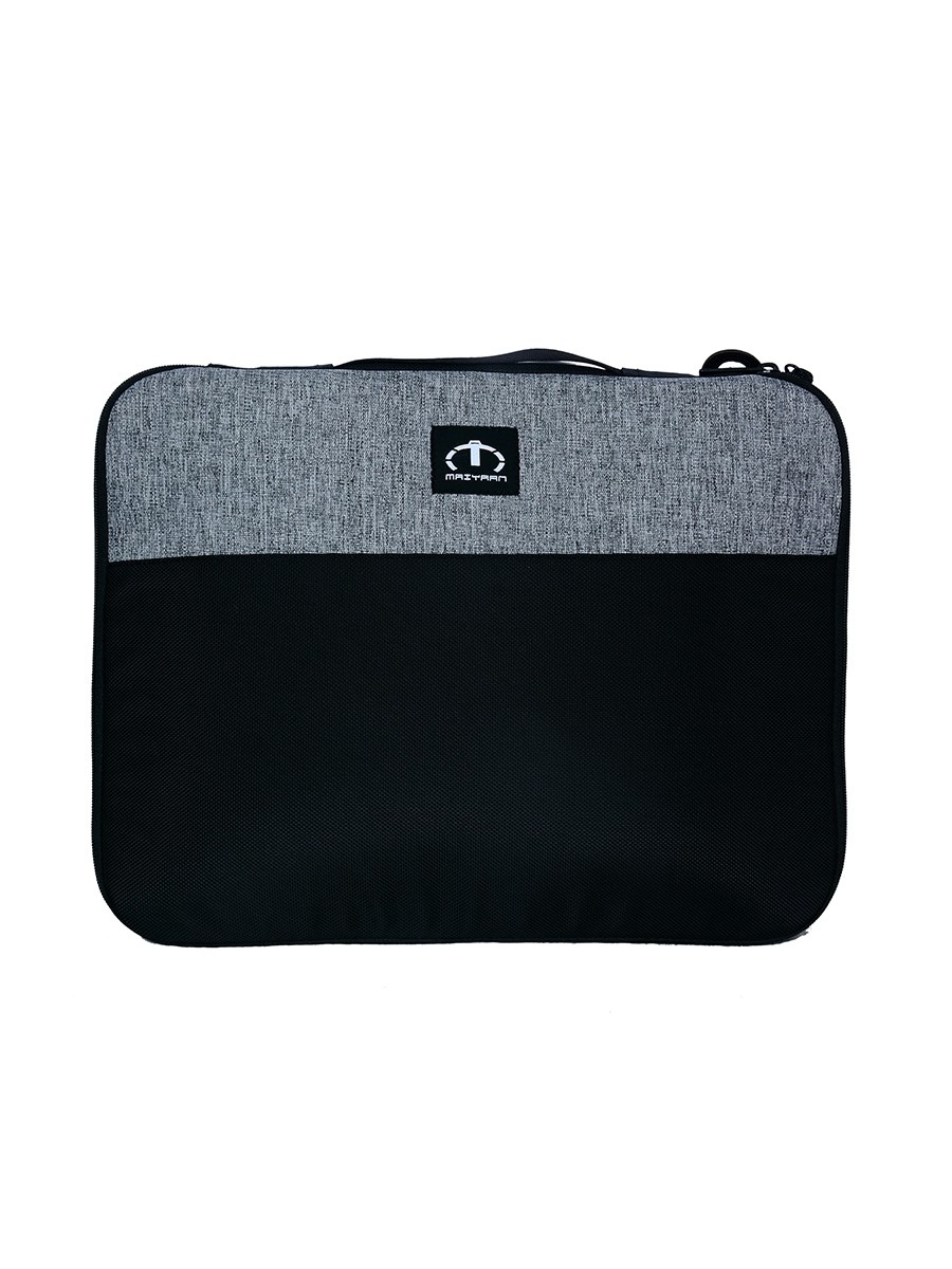 "GREY & BLACK LAPTOP SLEEVE GREY 12"" MESSENGER BAG"