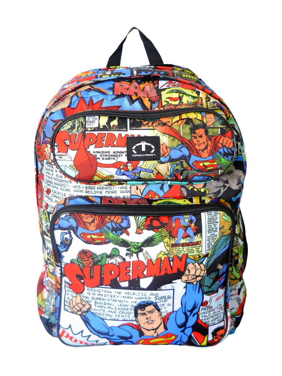 MULTI COLORED SUPERMAN BACKPACK