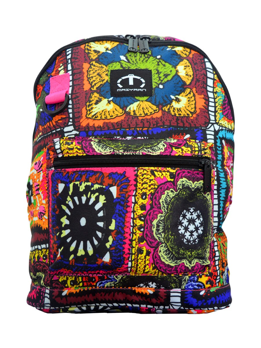 MULTI COLORED ETHNIC JERSEY MINI BACKPACK