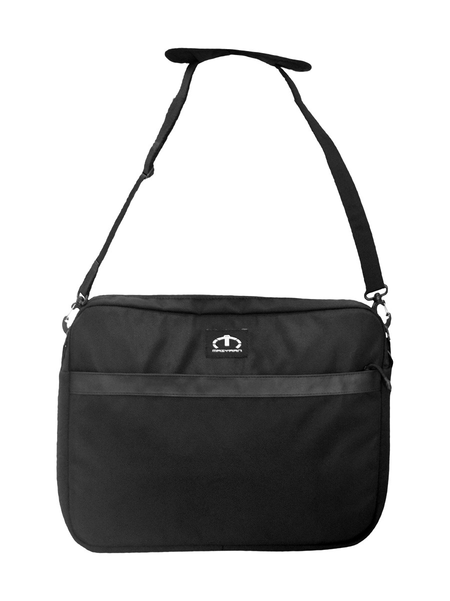 BLACK LAPTOP SLEEVE MESSENGER BAG