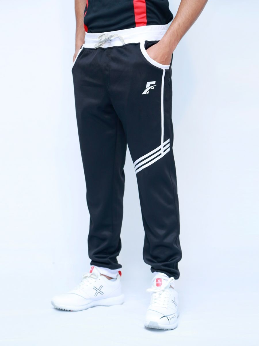 Black & White Active wear Trouser for Men