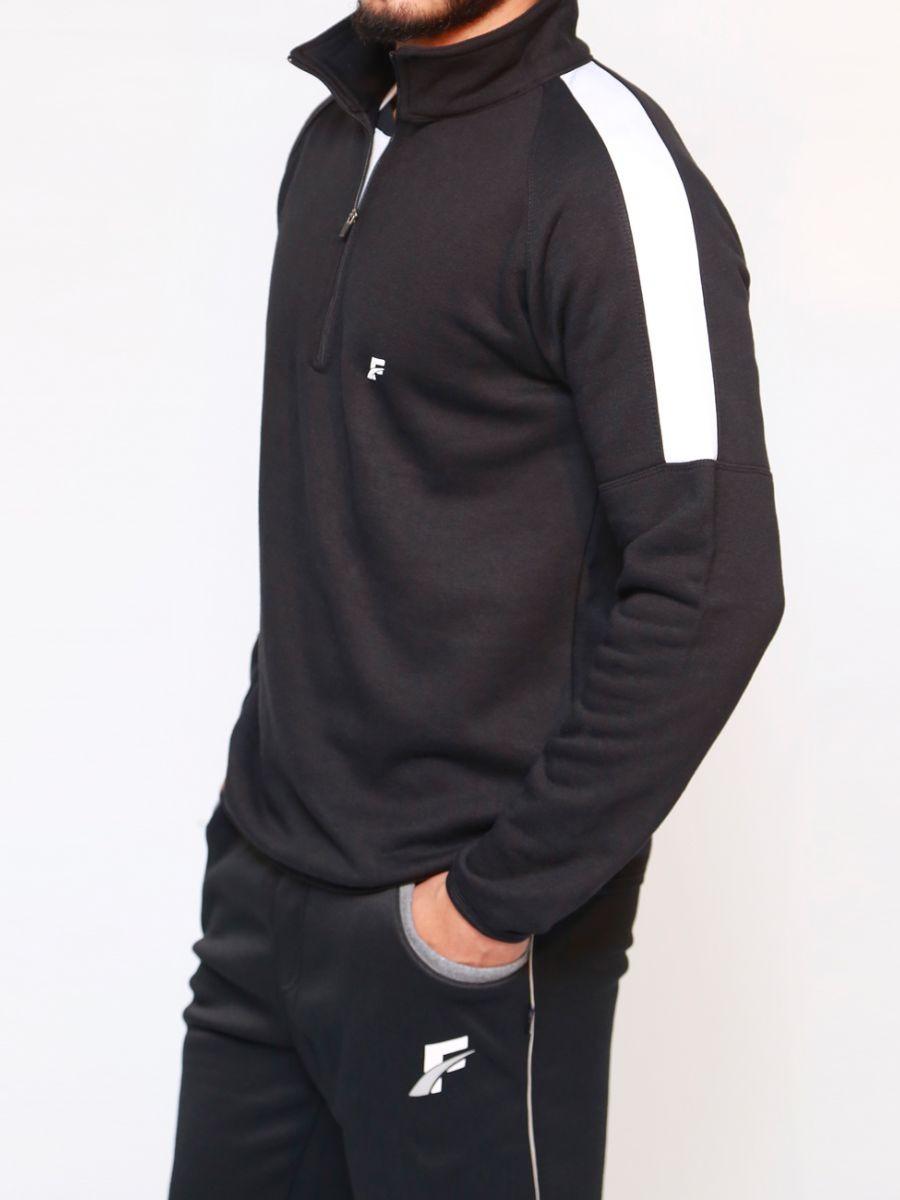 Black & White Pullover Windbreaker for Men